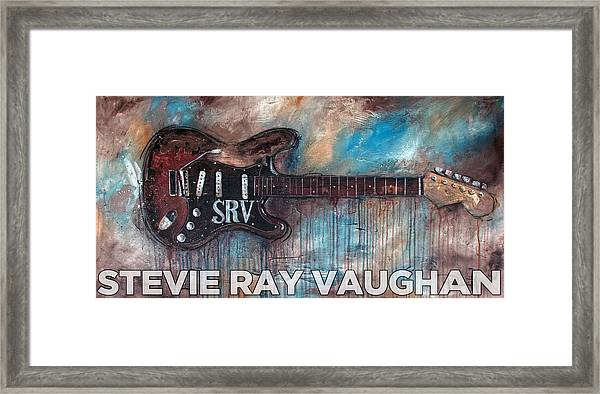 Stevie Ray Vaughan Double Trouble Framed Print