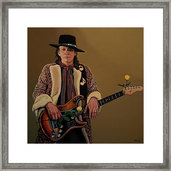 Stevie Ray Vaughan 2 Framed Print