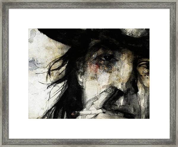 Stevie Ray Vaughan Retro Framed Print
