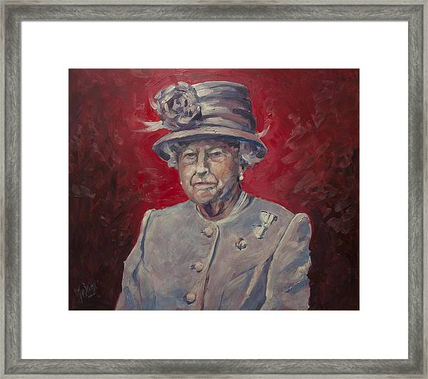 Stiff Your Upperlip And Carry On Framed Print