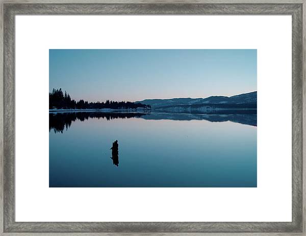 Still Blue Framed Print
