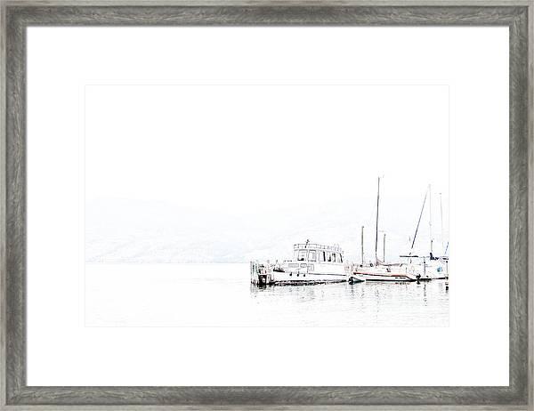 Still Harbour Framed Print