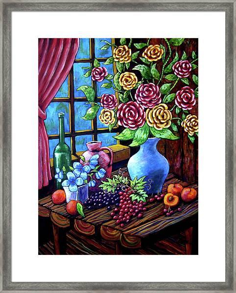 Still Life By The Window Framed Print