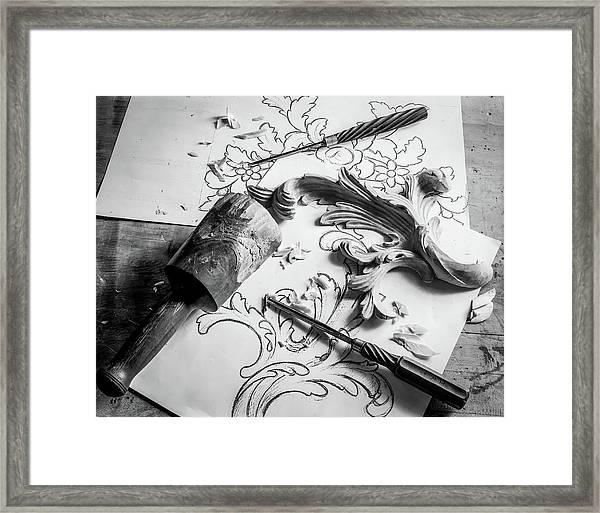 Still Life Carving Still Life Framed Print