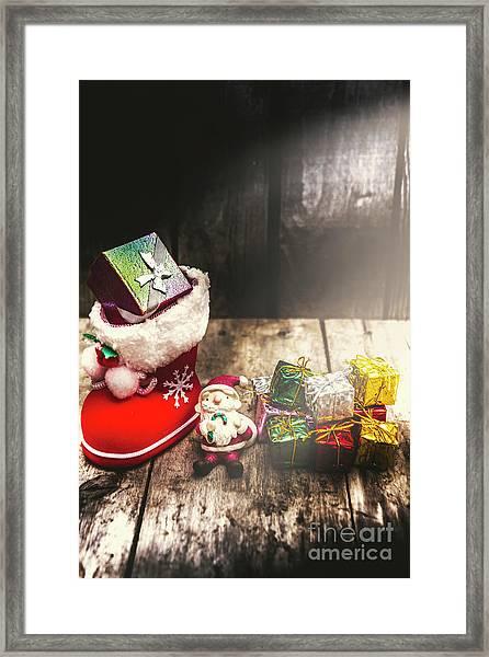 Still Life Christmas Scene Framed Print