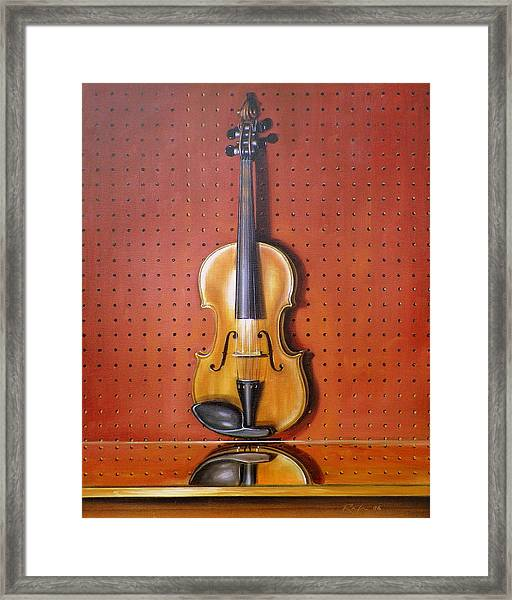 Still Life Of Violin Framed Print by RB McGrath