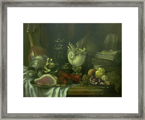 Still-life With A Lobster Framed Print