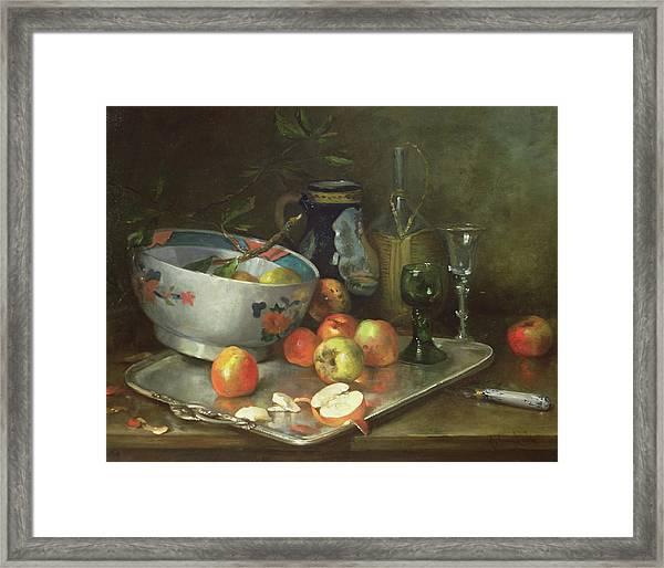 Still Life With Apples Framed Print
