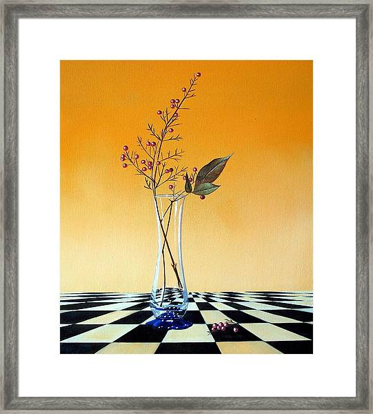 Still Life With Berries Framed Print