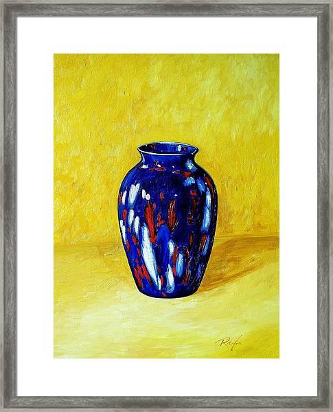 Still Life With Blue Vase Framed Print