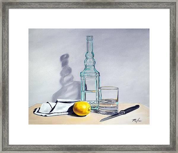 Still Life With Bottle Framed Print