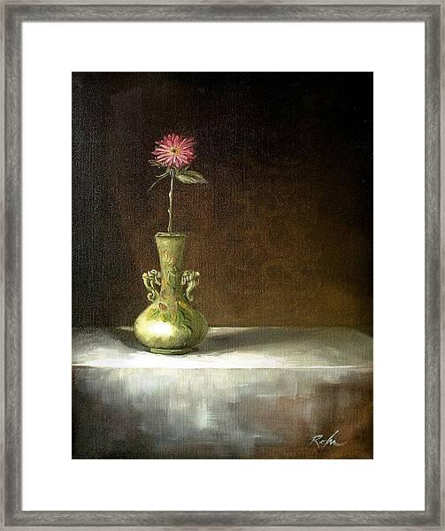 Still Life With Green Vase Framed Print