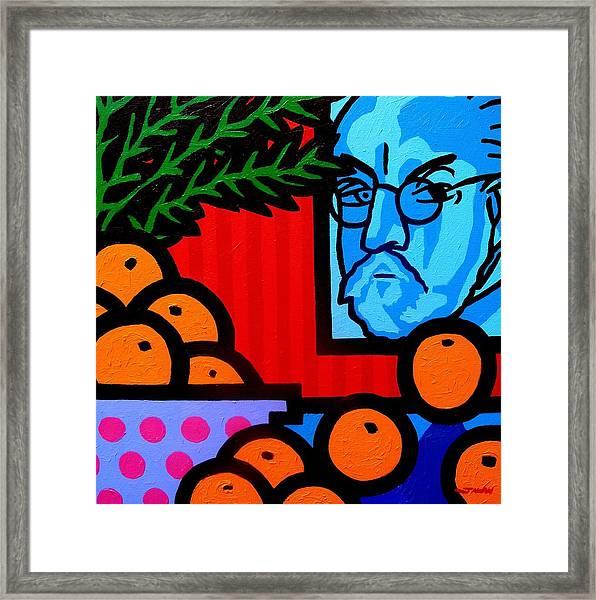 Still Life With Henri Matisse Framed Print