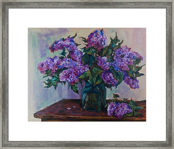Still Life With Lilac  Framed Print