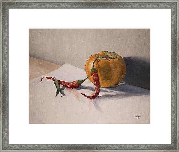 Framed Print featuring the painting Still Life With Produce by Break The Silhouette