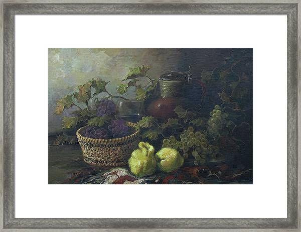 Still-life With Quinces Framed Print