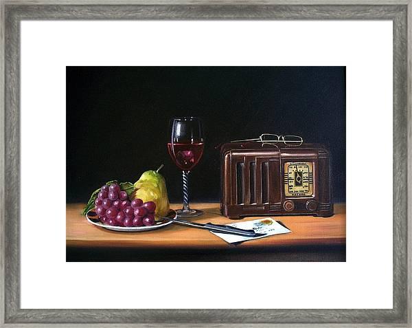 Still Life With Radio Framed Print