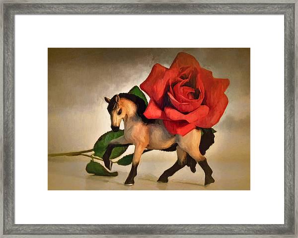 Still Life With Rose Framed Print