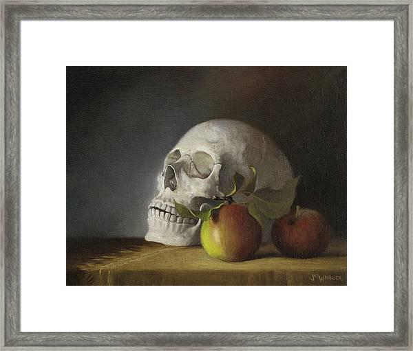 Still Life With Skull Framed Print