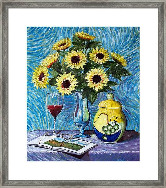 Still Life With Sunflowers Framed Print