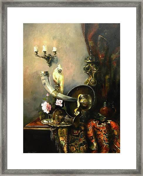 Still-life With The Dojra Framed Print