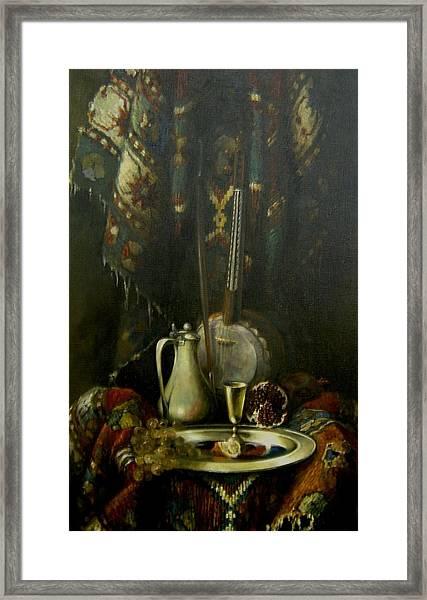 Still-life With The Kamancha Framed Print