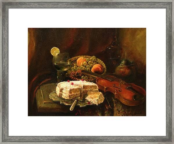 Still-life With The Violin Framed Print