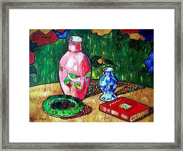 Still Life With Vase Framed Print