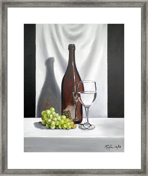 Still Life With White Wine Framed Print