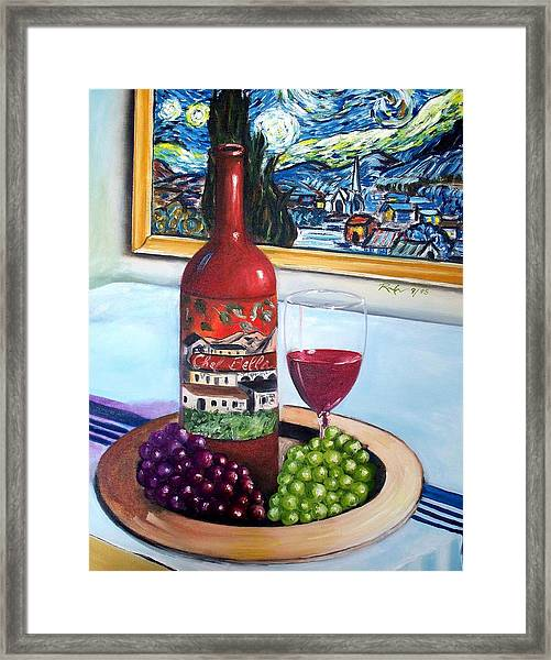 Still Life With Wine Framed Print
