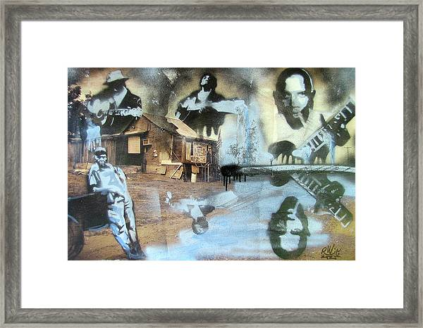 Still Raining Blues Framed Print