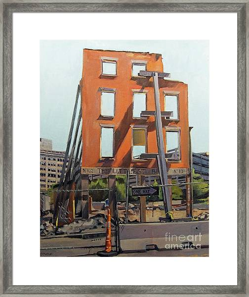 Still The Smallest Bar In Boston Framed Print