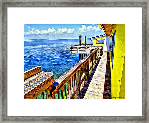 Stiltsville House Framed Print