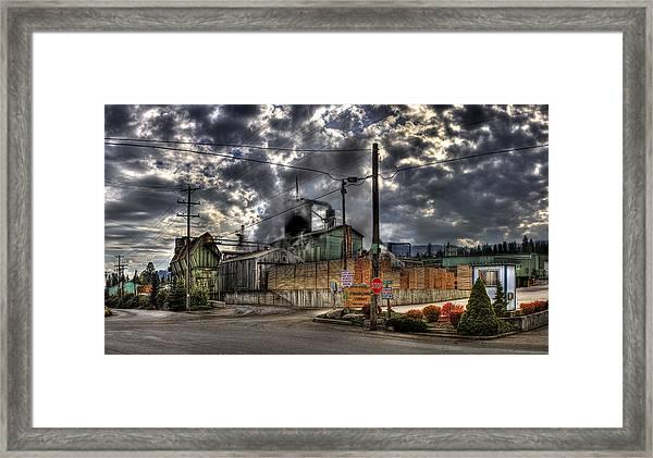 Stimson Lumber Mill Framed Print