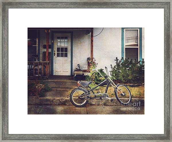 Sting Ray Bicycle Framed Print