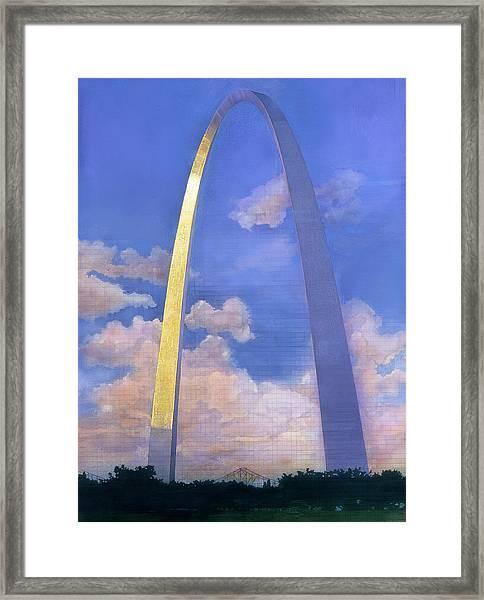 St.louis Gateway Arch Framed Print