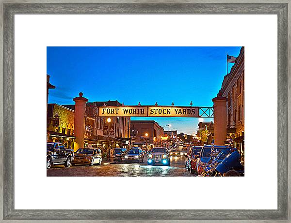 Stock Yards Framed Print by Dado Molina