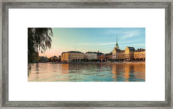 Stockholm Munkbroleden Framed Print