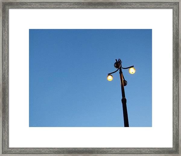 Stockholm Street Lamp Framed Print