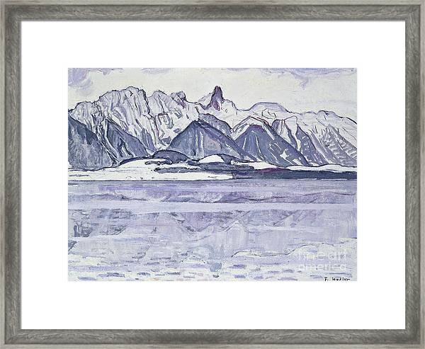 Stockhorn Verschneit Framed Print