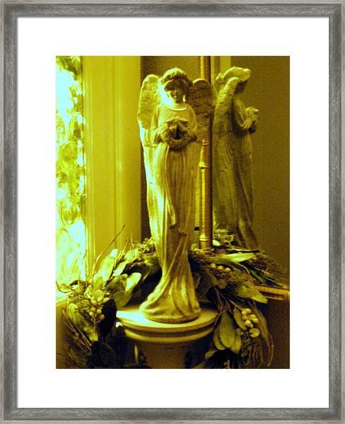 Stone Angel Framed Print by Christine Sullivan Cuozzo