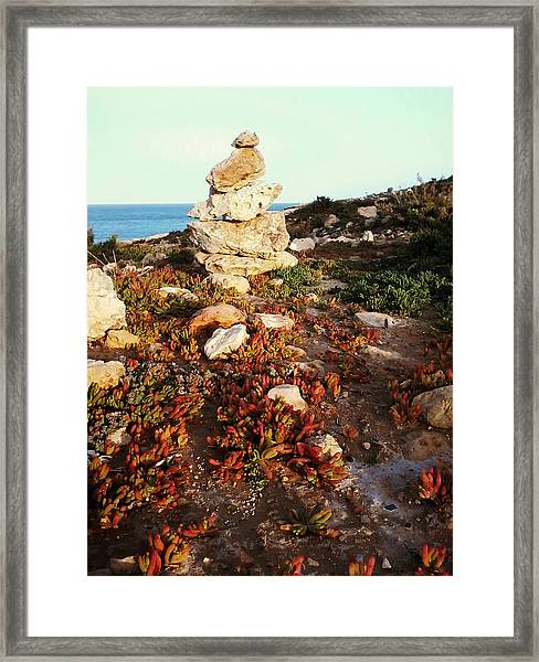 Stone Balance Framed Print