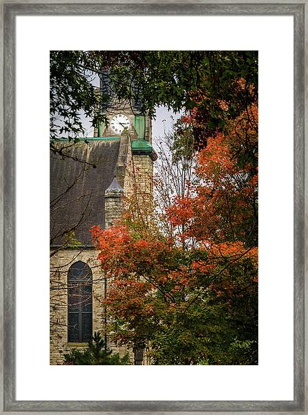 Stone Chapel Fall Framed Print