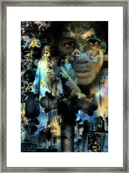 Stone Crosses And Death Angels - Trayvon Martin Framed Print