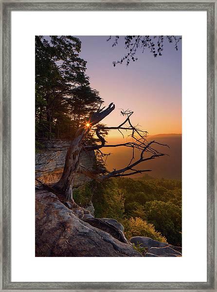 Stone Door Sunrise Framed Print