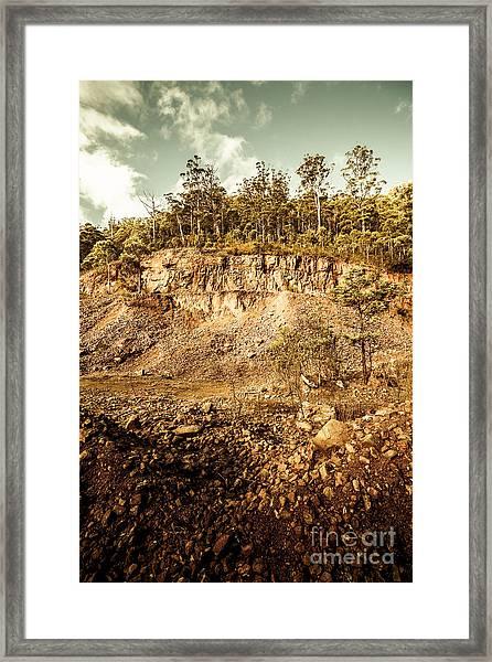 Stone Excavation Pit Framed Print