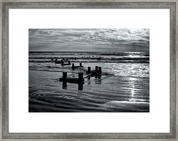 Stone Harbor Sunrise Framed Print