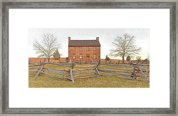 Stone House / Manassas National Battlefield / Winter Morning Framed Print