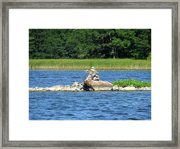 Stone Man Of  The Rift Framed Print