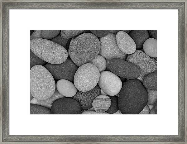 Stone Soup Black And White Framed Print